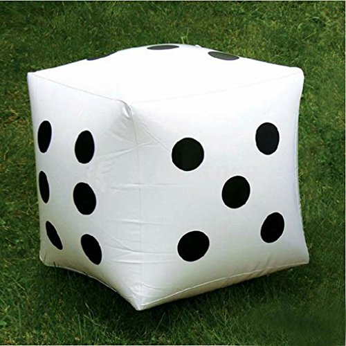 Owill 2Pcs 30cm Jumbo Large Inflatable Dice Dot Diagonal Giant Toy Party Air by Owill