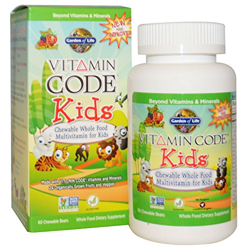 - Garden of Life, Vitamin Code, Kids, Chewable Whole Food Multivitamin for Kids, Cherry Berry, 60 Chewable Bears