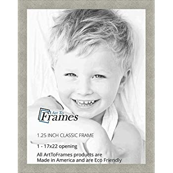 ArtToFrames 19x27 inch Classic Silver Picture Frame 2WOM0066-76808-YSLV-19x27