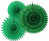 Hanging Honeycomb Tissue Fan, Light Green, Set of 3 (13 inch, 18 inch, 21 inch)