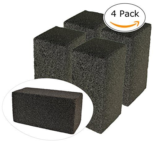 Gulf Highway Commercial Grade Grill Cleaning Brick Bulk 4 Pack by Pumice Stone Cleaner Tool Cleans Restaurant Flat Top Grills, BBQs or Griddles Effectively Without Harsh Chemicals or (Commercial Outdoor Brick)