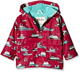 Hatley Baby Ocean Liner Infant Raincoat, Red, 12-18 Months