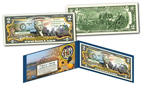 - MARYLAND Genuine Legal Tender $2 Bill USA Honoring America's 50 States