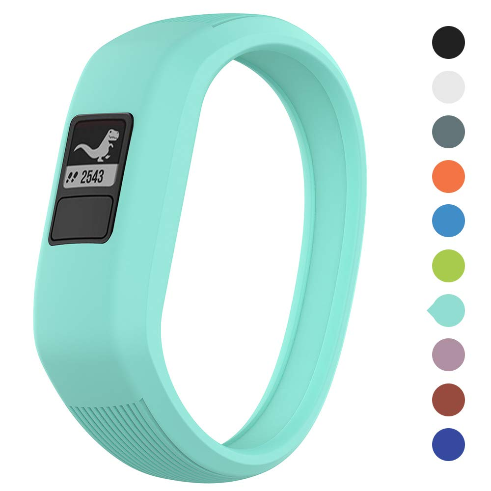 Meifox Garmin Compatible with Vivofit JR Bands for Kids, Solf Silicone Replacement Band with Garmin Vivofit JR/Vivofit JR 2 / Vivofit 3 (Teal, Small)
