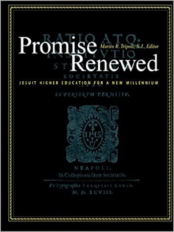 Book Promise Renewed: Jesuit Higher Education for a New Millennium by Tripole S. J. (2001-08-01)