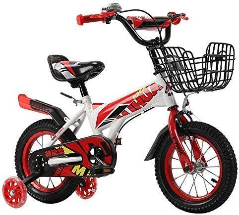 YSA キッズバイク12、14インチ子供用自転車、補助輪付き、ブラケット、2〜5歳の男の子と女の子に適した、トレーニング自転車自転車