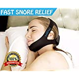Breathe Easy Anti Snoring Chin Strap The Best Stop Snoring Solution Instant Stop Snore Remedies Aids Snoring Relief Devices Anti Snore Jaw supporter Chin Straps Adjustable size for Men and Women