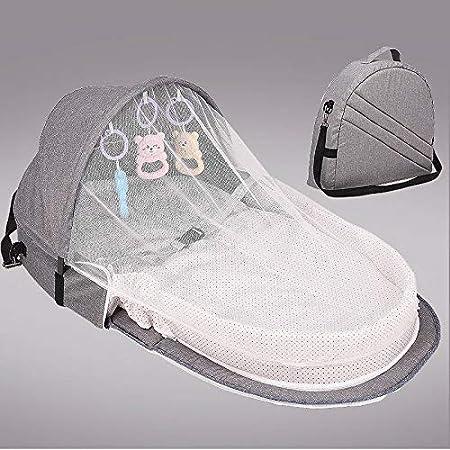 Wildlead Baby Nest Cunas port/átiles de Viaje para beb/és Silla Plegable de Cama Plegable multifunci/ón para ni/ños peque/ños