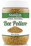 Stakich BEE POLLEN GRANULES 1 lb (16 oz) - 100% Pure, Natural, Unprocessed -