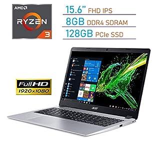 Acer Aspire 5 15.6'' FHD (1920x1080) IPS Display Laptop PC, AMD Ryzen 3 3200U, 8GB DDR4, 128GB SSD, Backlit Keyboard, Webcam, HDMI, Acer TrueHarmony Audio, Bluetooth, Windows 10 w/Tigology Mousepad