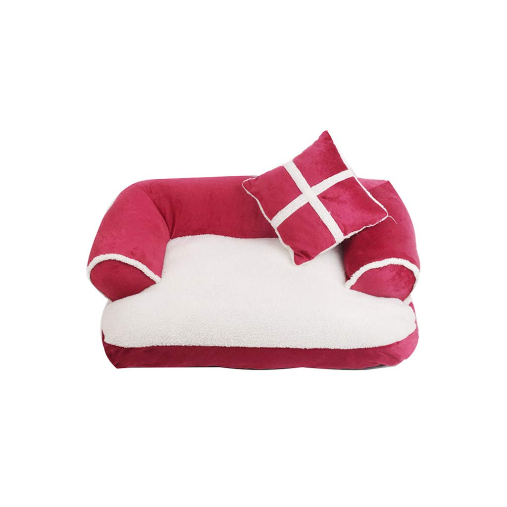pink MTLTLCWW Pet Sofa, Removable And Washable Four Seasons Available Dog Bed Pet Cat Litter Dog Mat, Multicolor Optional (color   BLACK, Size   M)