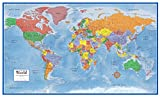 48x78 World Classic Premier Wall Map Mega Poster Laminated