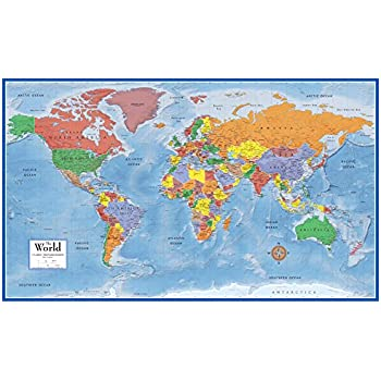 Amazoncom Rand McNally RM Rand McNally FullColor X - Large laminated us map
