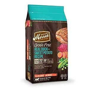 Amazon Merrick Grain Free Duck and Sweet Potato Dry