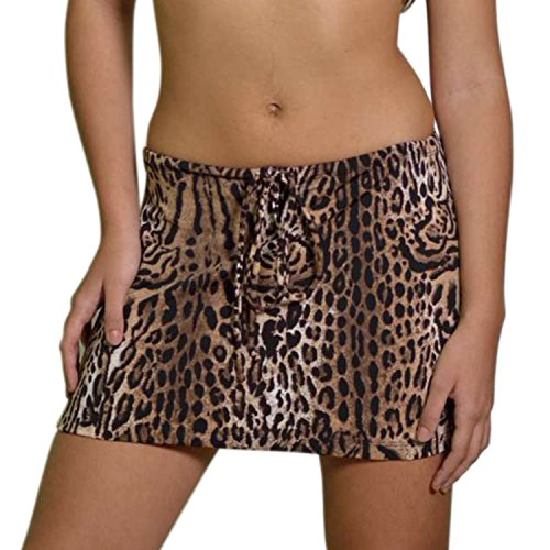 Kkompany femmes Summer Beach Short de bain jupe paro bikini pour envelopper Maillots de bain Lopard