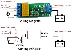 Hidream 5~12V DC Motor Reverse Polarity Cyclic Timer Switch ... on