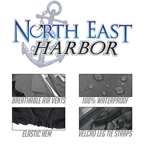 North East Harbor Outdoor Patio Chaise Lounge Chair Cover 78'' Length Dark Grey with Black Hem - 100% Waterproof Winter Storage Cover Deck Patio Backyard Veranda Porch Chair Covers
