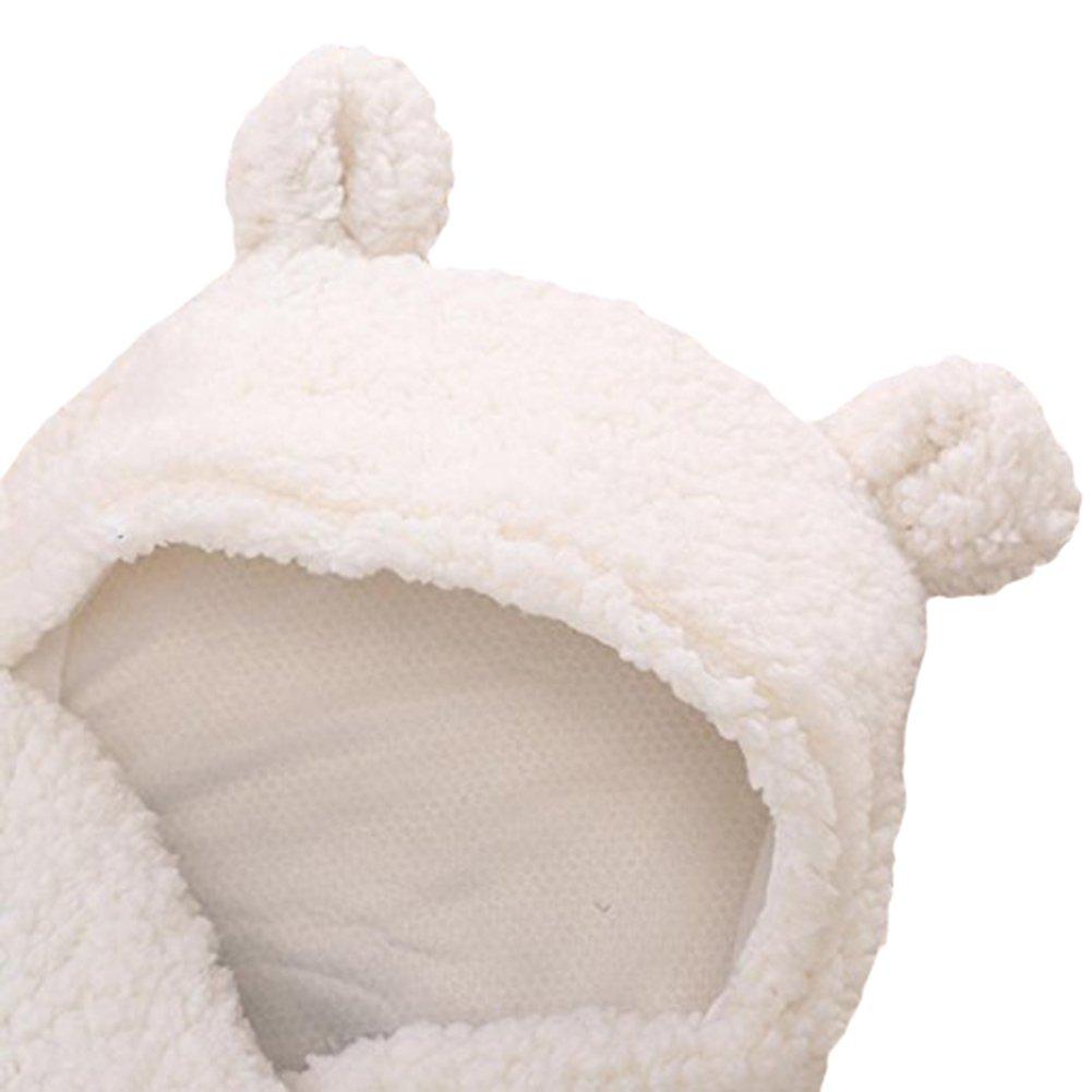 Newborn Baby Boys Girls Cute Cotton Plush Receiving Blanket Sleeping Wrap Swaddle by Pinleck (Image #8)