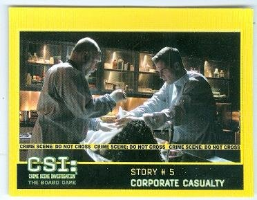 Robert David Theatre and George Eads CSI trading card game card Story #5 Blank Back