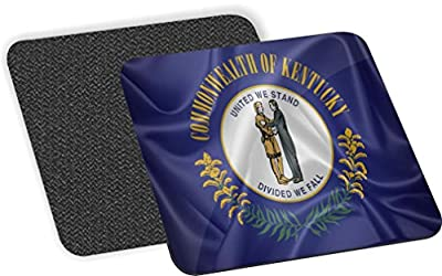 Rikki Knight Kentucky State Flag Design-Soft Square Beer Coasters (Set of 2), Multicolor
