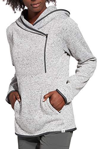 - Alpine Design Women's Sweater Face Asymmetrical Fleece Hoodie (M, Grey Heather)