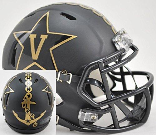 Vanderbilt Commodores Alternate BLACK with Anchor Riddell Speed Mini Football Helmet