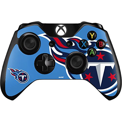Skinit NFL Tennessee Titans Xbox One Controller Skin - Tennessee Titans Large Logo Design - Ultra Thin, Lightweight Vinyl Decal Protection by Skinit