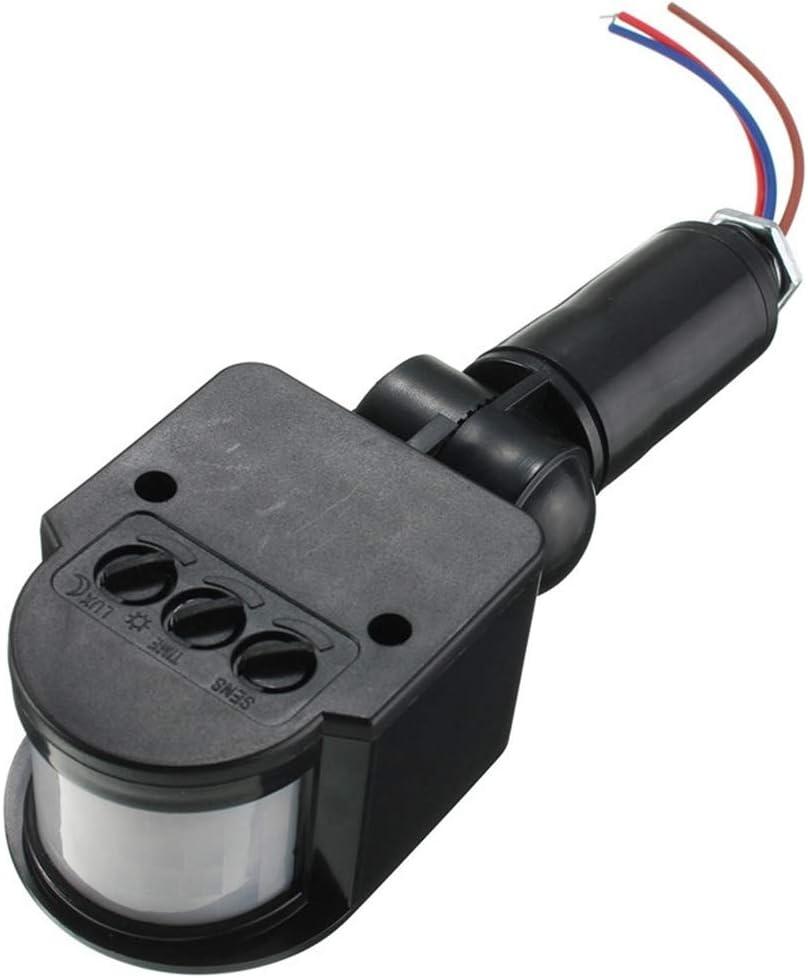 F-MINGNIAN-TOOL, Interruptor 1pc LED del sensor de movimiento 220V 110V 12V automático de infrarrojos PIR Detector de movimiento de montaje en pared exterior del temporizador 12 voltios del sensor de