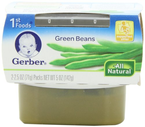 Gerber 1st Foods Green Beans, 2.5 Ounce Tubs, 2 Count (Pack of 8) (Stage One Gerber Baby Food compare prices)