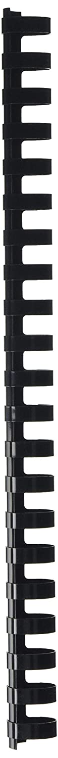 Peach R-PB420-02 Plastikbinderücken DIN A4, 20 mm, 175 Blatt, 25 Stück, Schwarz 25 Stück
