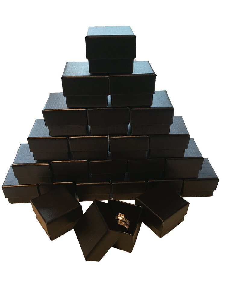 Black Ring Gift Box with Foam and Velvet Insert Wholesale Pack of (1440)