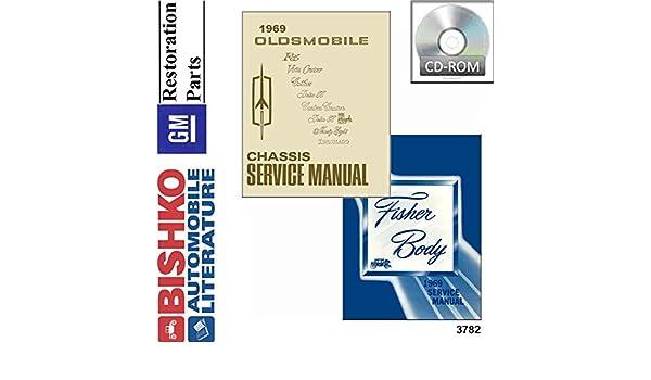 1975 Oldsmobile Shop Service Repair Manual Book Engine Drivetrain ...