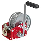 Sealey GWC2000B 900 kg Capacity Geared Hand Winch with Brake and Cabl