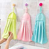 Shop by Room Hanging Hand Napkin for Wash Basin, Kitchen Basin(Assorted Colour) - Set of 3