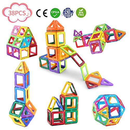 Magnetic Blocks-Magnetic Blocks Building Set for Kids-38 PCS ()