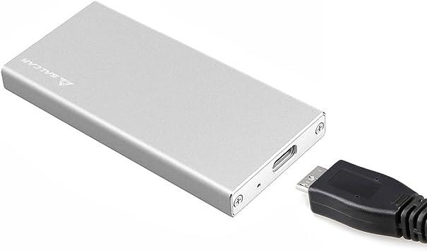 SALCAR Carcasa Aluminio con USB 3.0 mSATA para Discos Duros ...