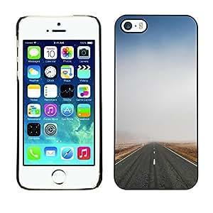 Cubierta de la caja de protección la piel dura para el Apple iPhone 5 / 5S - Sunrise From Space