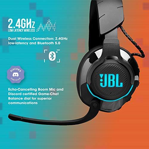 JBL Quantum 800 Auriculares inalámbricos para gamers con micrófono y RGB, tecnología de virtualización surround…