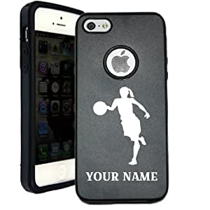 Personalized Customized Custom Basketball Women Player iPhone 5 Case iPhone 5S Case - MetalTouch...