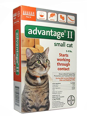 Advantage II (Cat) Feline -Orange 5-9 lbs, 6-pk