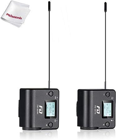 FeiDu FM50 UHF Sistema de micrófono inalámbrico Lavalier de ...
