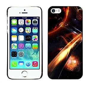 Carcasa Funda Prima Delgada SLIM Casa Case Bandera Cover Shell para Apple Iphone 5 / 5S / Business Style Fire Plantes
