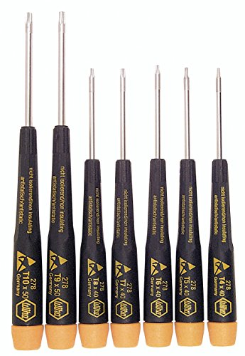 - Wiha 27894 Screwdriver Set with Precision ESD Safe Dissipative Handle, Torx Plus, 7 Piece