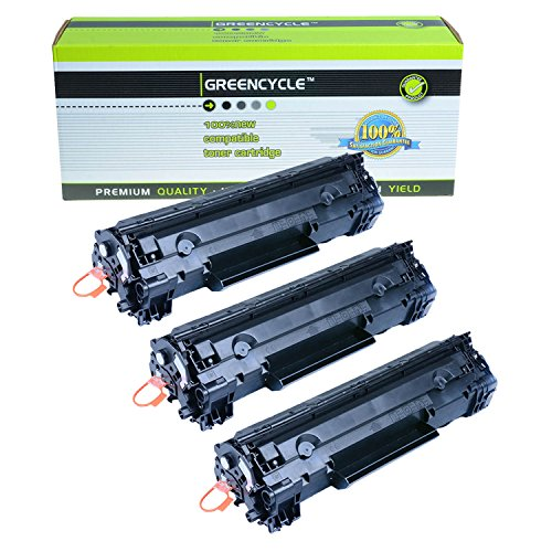 GREENCYCLE ® 3 PK CRG-126 126 128 Black Laser Toner Cartridges For Canon ImageClass LBP6200d