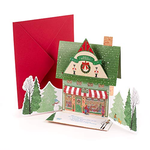 (Hallmark Pop Up Christmas Card with Lights and Sound (Toy Shop, Plays Jolly Old Saint Nick))