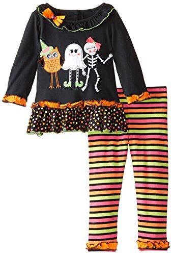 Rare Editions Little Girls' Halloween Applique Legging Set,