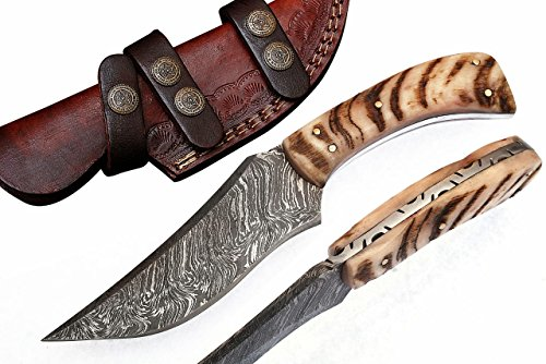 Grace Knives Handmade Damascus Hunting Knife 8.5 Inches G-1066 R (with Sheath)