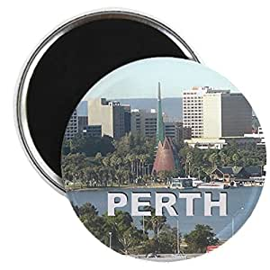 "CafePress - Perth, Western Australia - 2.25"" Round Magnet, Refrigerator Magnet, Button Magnet Style"