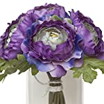 Lavender-and-Green-Silk-Ranunculus-Bouquet-Wedding-Party-Flowers-Arrangements-Gift