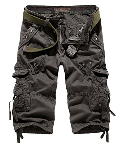 Men's Lightweight Relaxed Fit Cargo Shorts Dark Grey 40